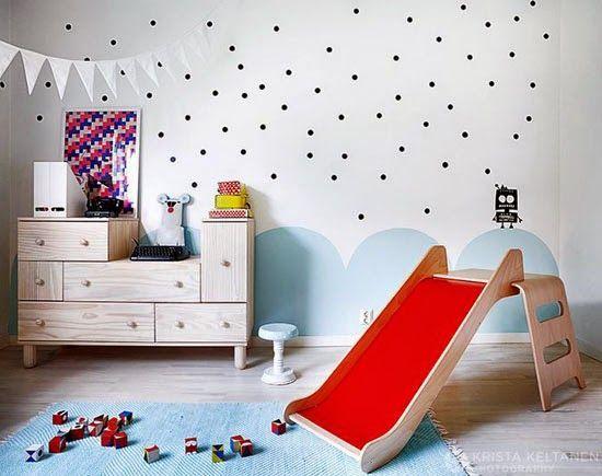 Pintar las paredes del dormitorio de los nios es la