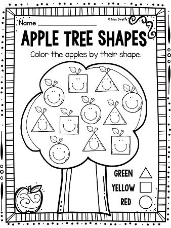 Apple tree, First grade activities and Worksheets on Pinterest