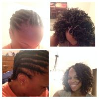 Before and after crochet braid with Freetress Gogo hair ...