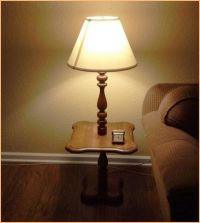 Contemporary floor lamp with table attached | Interesting ...