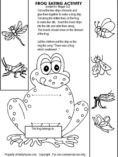 Frog eating activityhttp://kiddyhouse.com/Themes/frogs