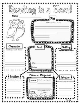 Graphic organizer book report middle school