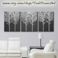TODAY, 48 inches, 3 piece Wall art set, Large Canvas Trees