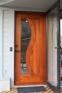 Modern Front Door with French doors, Glass panel door ...