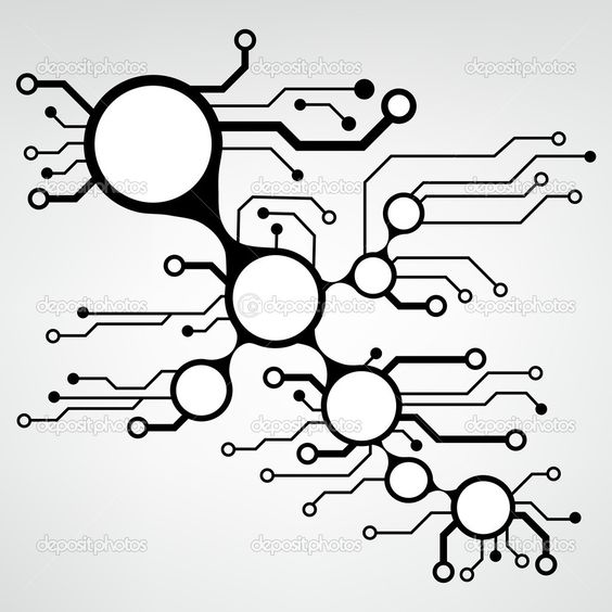 Vector Circuit Board Vector Background Form Of Heart Eps10