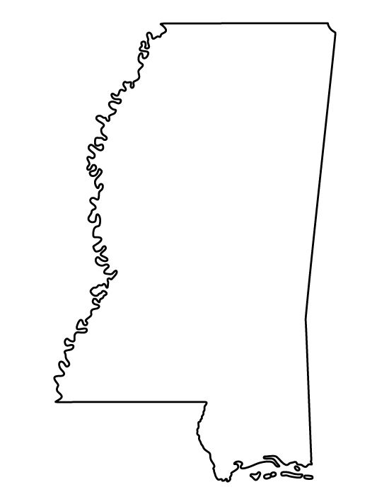 Mississippi pattern. Use the printable outline for crafts