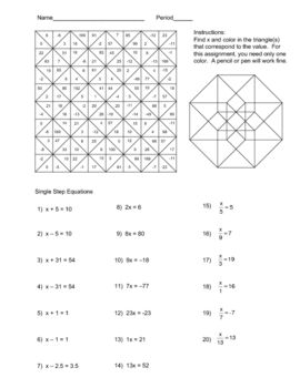 One Step Equations With Fractions Multiplication Worksheet