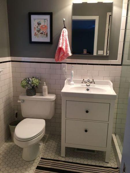 ikea bathroom vanity ideas IKEA Hemnes Bathroom Vanity | Bathroom remodel | Pinterest
