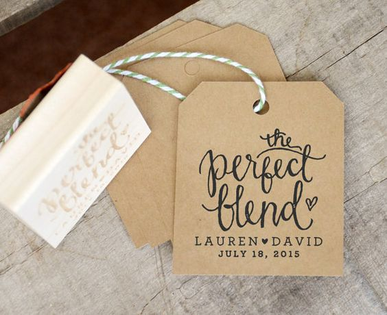 The Perfect Blend Rubber Stamp for Personalized Coffee