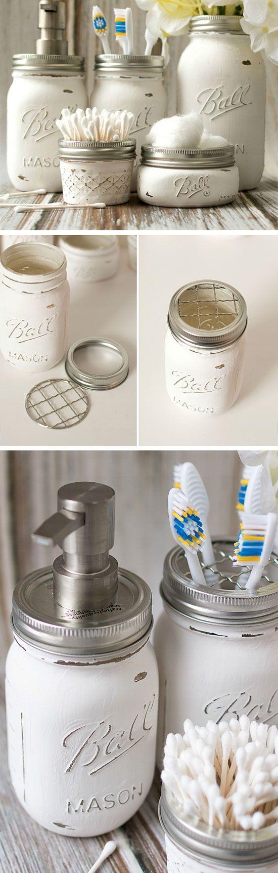 20 DIY Bathroom Storage Ideas for Small Spaces  Jars