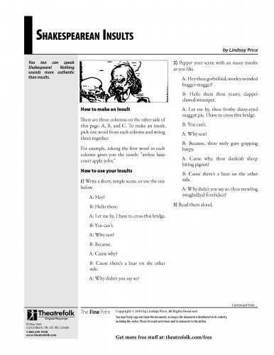 Shakespeare insults and Worksheets on Pinterest