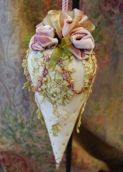 Victorian cone tassel (or pincushion):
