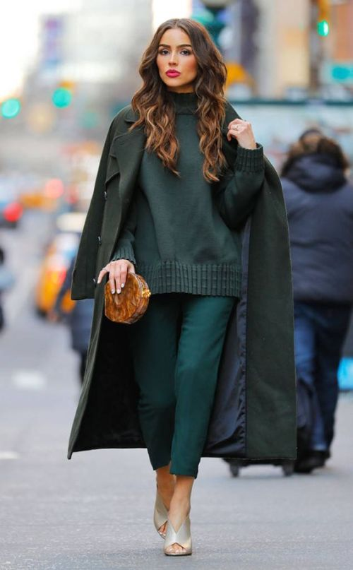 Olivia Culpo from The Big Picture: Today's Hot Photos City chic! The gorgeous gal is seen in a monochromatic look on the streets of NYC.: