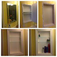 Converted metal medicine cabinet into open shelves...... I ...