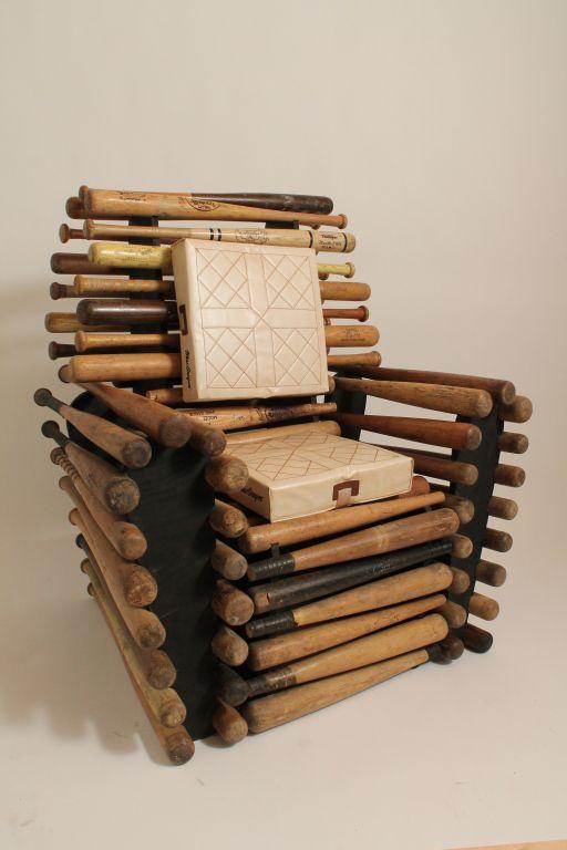 Baseball Bat Chair  I want Chairs and Baseball