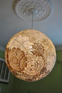 Light globes, Doilies and Pendant lights on Pinterest