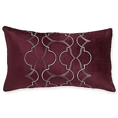 Royal Velvet Dark Raisin Oblong Decorative Pillow