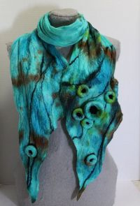 Felted scarf, Turquoise and Great gifts on Pinterest