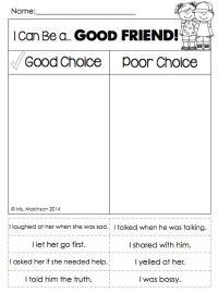 Friendship Worksheets For Kindergarten - english teaching ...