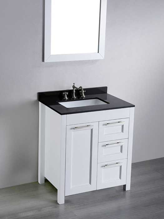 Whats the Standard Depth of a Bathroom Vanity  Countertops Black countertops and Blog