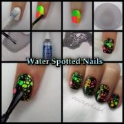 water spotted nails paint