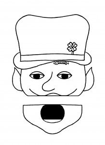 Leprechaun printable paper bag puppet for kids (and FREE