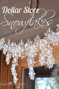 Snowflakes, Dollar stores and Hot glue guns on Pinterest