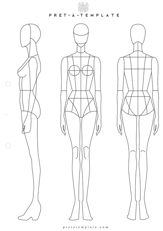 Fashion templates, Fashion sketchbook and Woman body on