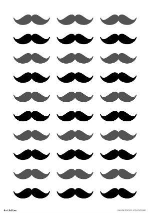 Free Printable Mustaches #Dad's #Baby #Shower. Click for