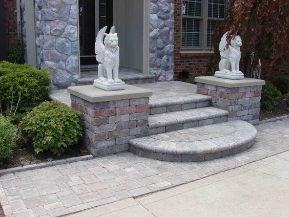 cement and pavers in landscaping