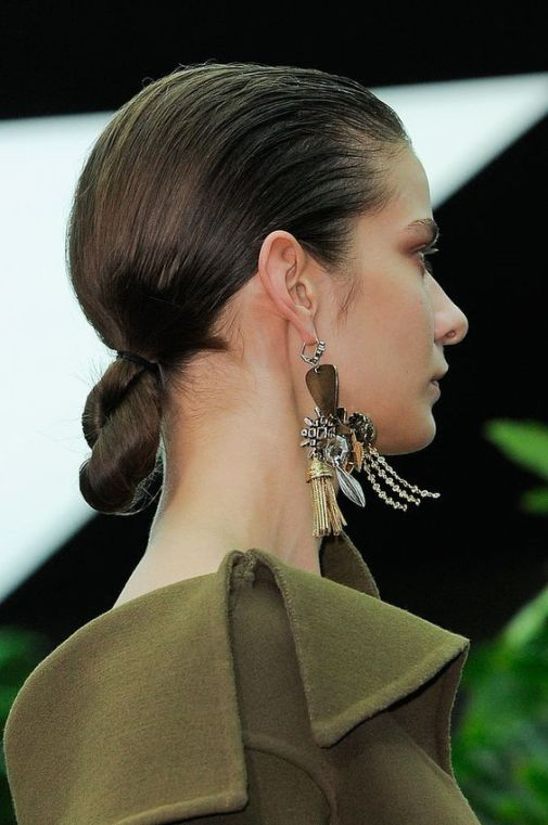 Twisted bun at Celine Fall 2014 #PFW:
