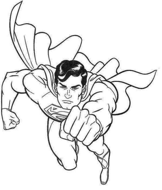 Superman Coloring Mask Coloring Pages
