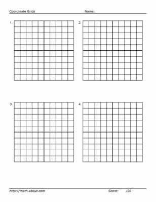 Practice Your Graphing With This Printable 20 x 20 Grid