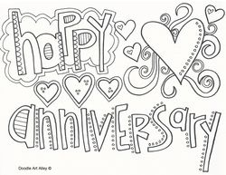 Happy anniversary, Anniversaries and Coloring pages on