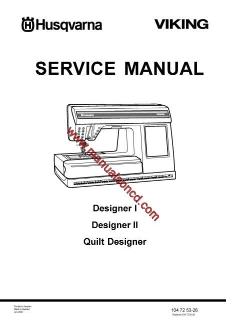 Husqvarna Viking Service Manual. Models: Designer I