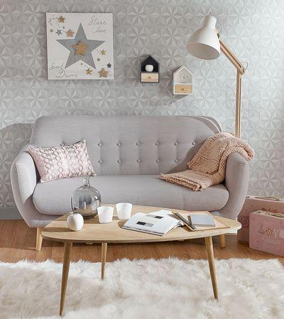Un petit salon cosy d'inspiration scandinave | Deco scandinave et cocooning by Maisons du Monde: