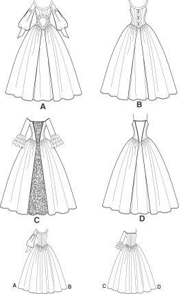 Medieval/Victorian/Colonial Dress PATTERN Wedding OOP