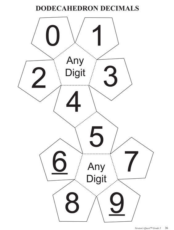 Dodecahedron Decimals