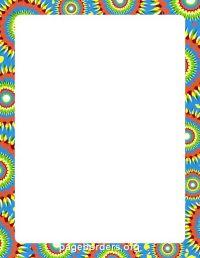 Tie Dye Border