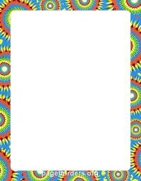 Tie Dye Border | Stationery borders | Pinterest | Dyes ...