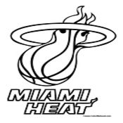 Miami Heat Coloring Page (NBA Teams Coloring Pages