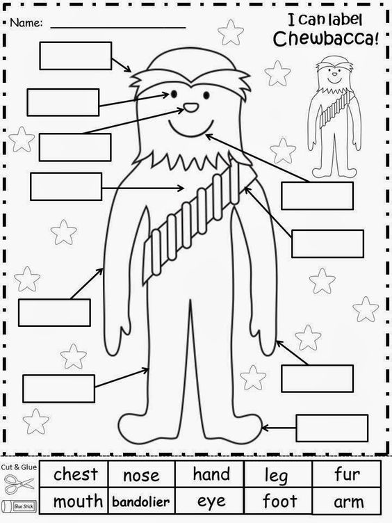 Free: Chewbacca Labels from Star Wars. For Educational