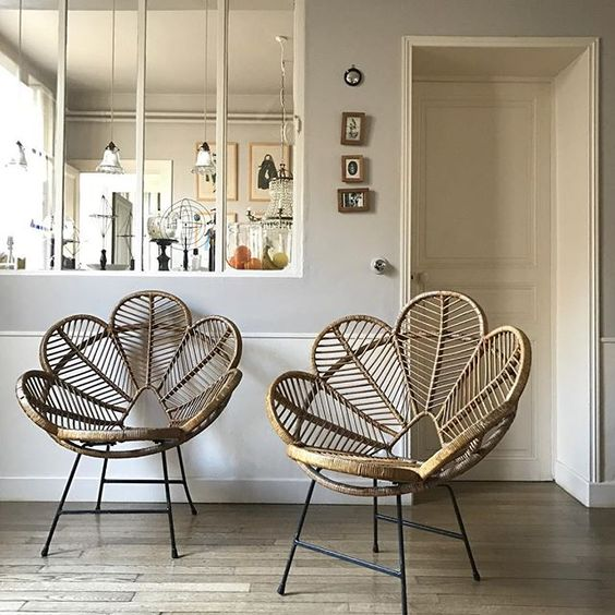 rattan flower chairs: