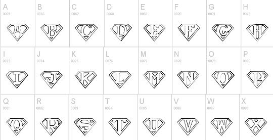Fonts and Superman on Pinterest