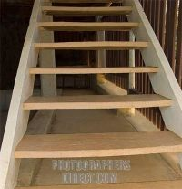 exterior stair risers   ... image of Wooden open riser ...