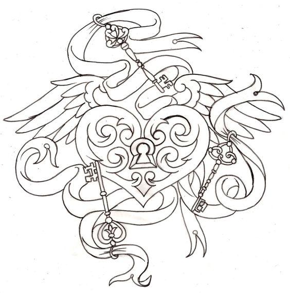 Key to My Heart Locket Tattoo 6 by ~Metacharis on