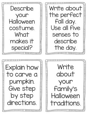 Writing prompts, printables, & activities for Halloween