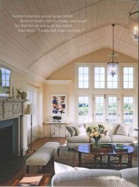 vaulted tongue and groove ceiling living room (AD ...