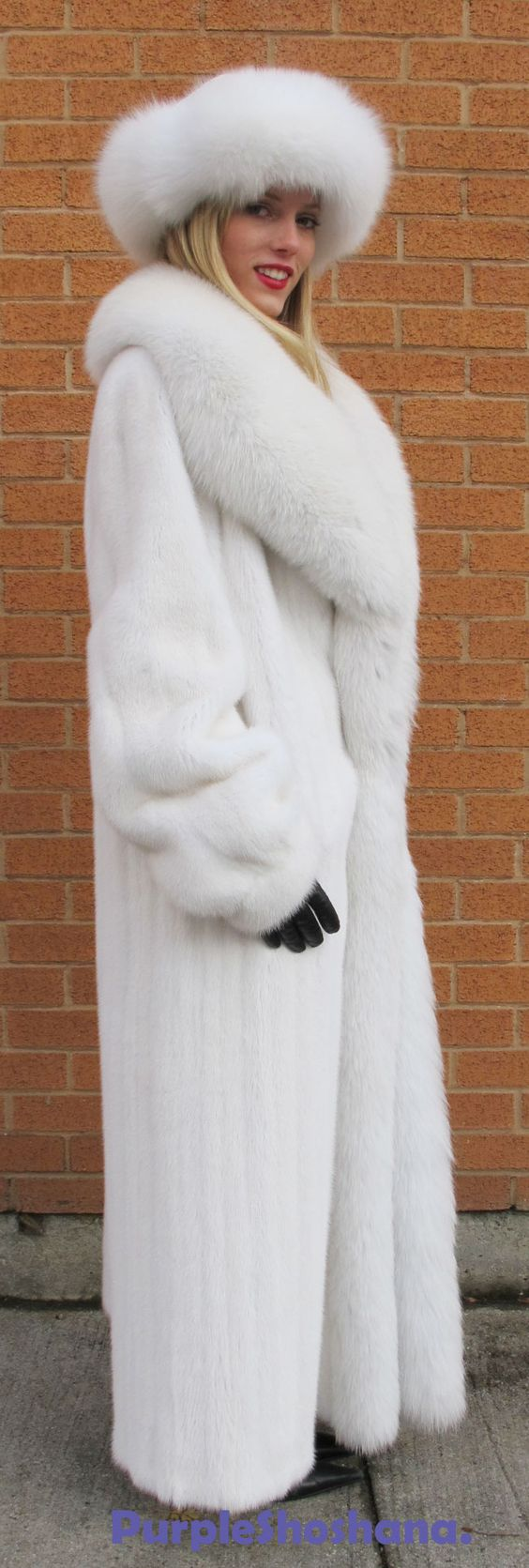 white mink and fox fur  Yes its REAL  Pinterest  Sexy