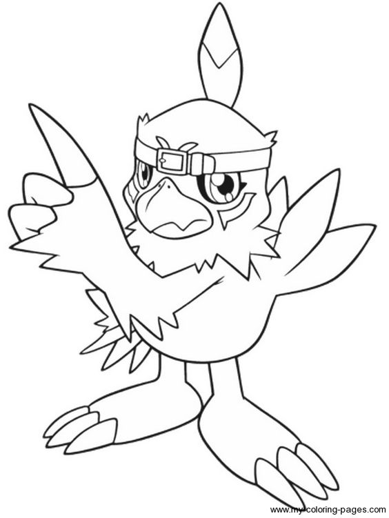 Free Coloring Pages Of Shoutmon Digimon